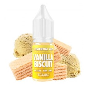 Vanilla Biscuit 10ml 20mg - Essential Vape Nic Salts by Bombo