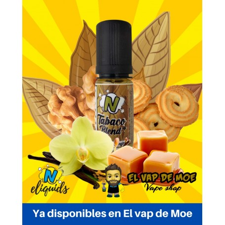 N-ELIQUIDS sales de nicotina Tabaco Blend Plus