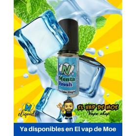 N-ELIQUIDS sales de nicotina Menta Fresh