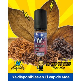 N-ELIQUIDS sales de nicotina American Gold